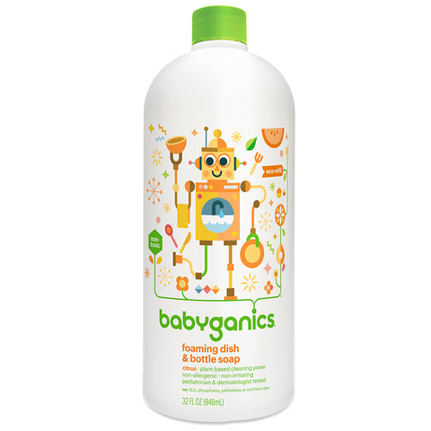 Babyganics Dish & Soap Bottle Refill 32oz