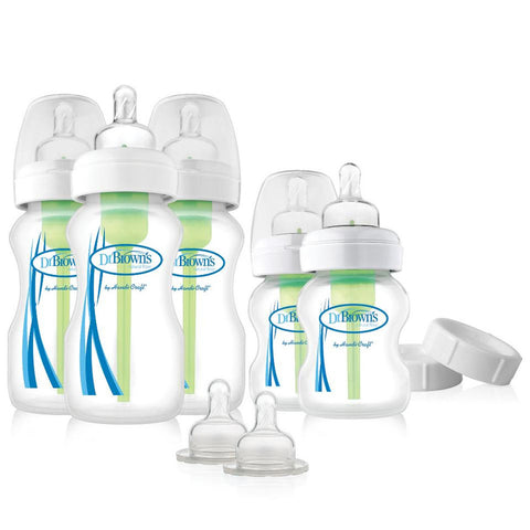Dr Brown Wide Neck Options + Newborn Feeding Set