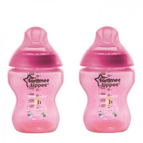 Tommee Tippee Closer To Nature Tinted Bottle 2 x 260ml / 9oz (Twin Pack)