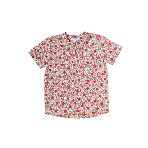 Sea Apple Festive Florals Mandarin Shirt