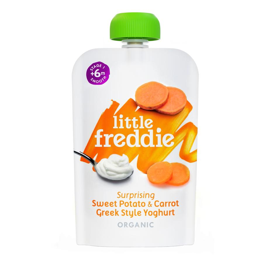 Little Freddie Surprising Sweet Potato & Carrot Greek Style Yoghurt
