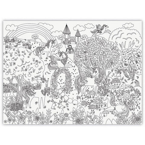 Crocodile Creek Giant Coloring Poster - Unicorn Garden