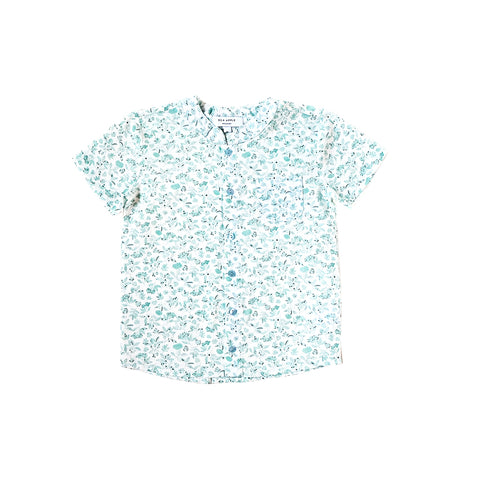 Sea Apple Green Porcelain Mandarin Shirt