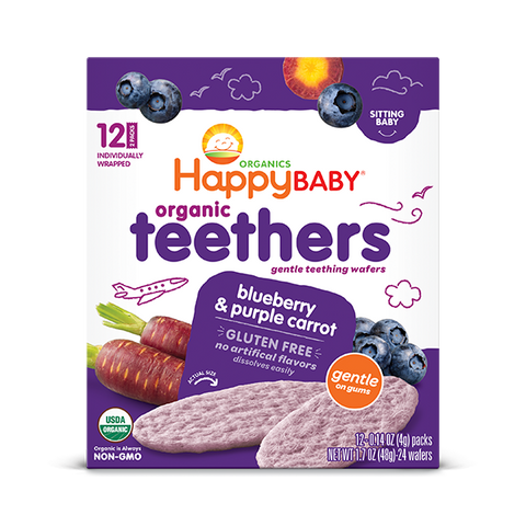 Happy Family Organics Blueberry & Purple Carrot Teethers Snack