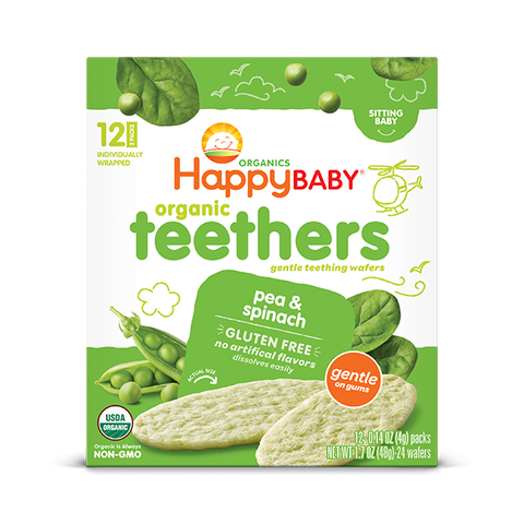 Happy Family Organics Pea & Spinach Teethers Snack