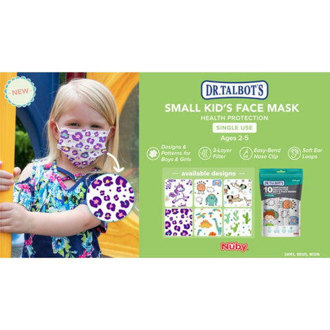 Nuby Small Kids Face Mask - 10 Pcs
