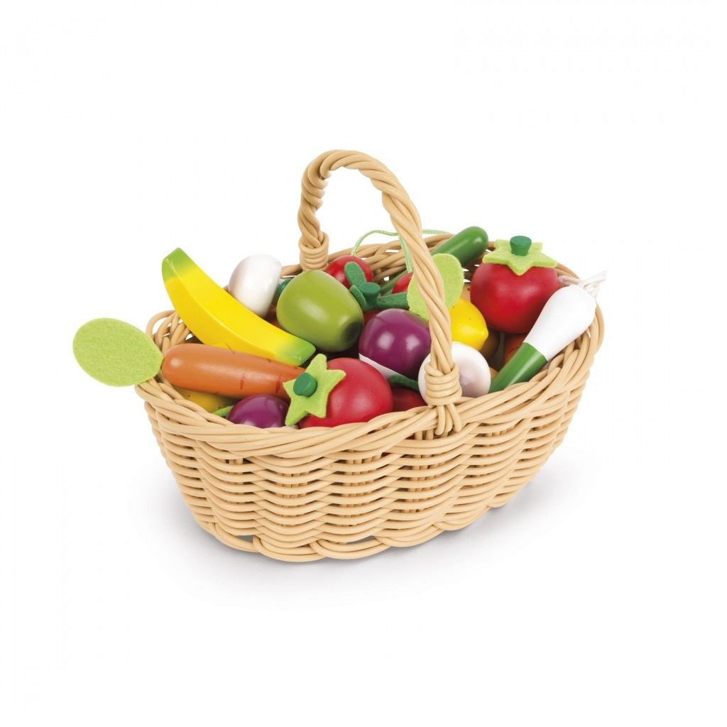 Janod 24 Pcs Fruits And Vegetable Basket