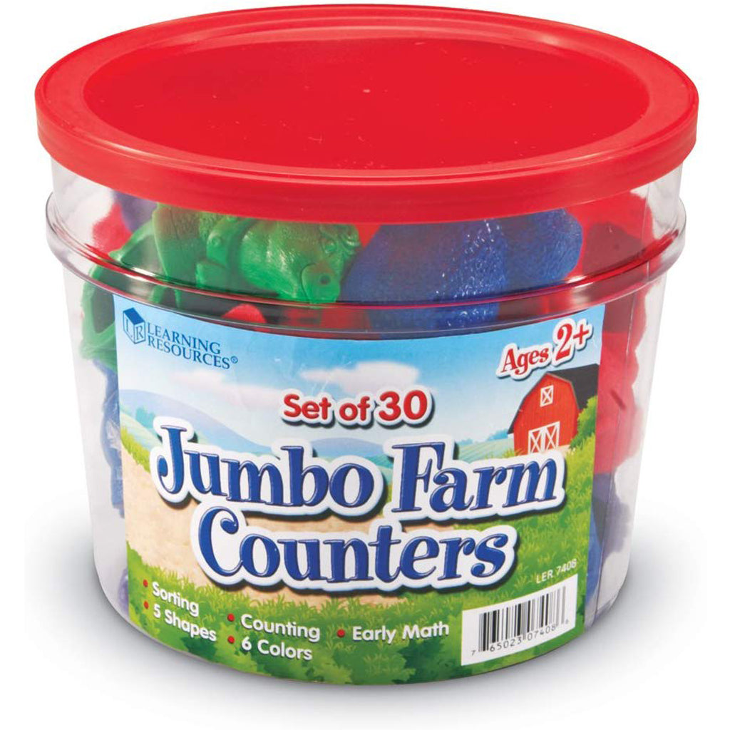 Learning Resources Jumbo Farm Counters (Set of 30)