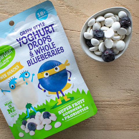 KiwiGarden Greek Yoghurt Drops & Whole Blueberries
