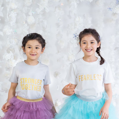 "Le Petit Society Kids ""Stronger Together"" Tee"