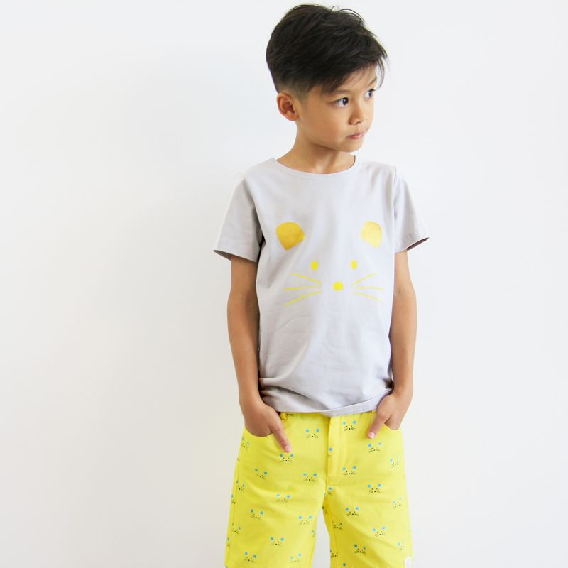 Le Petit Society Mouse Series - Boys Yellow Bermuda
