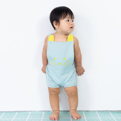 Le Petit Society Mouse Series - Baby Party Romper In Light Blue