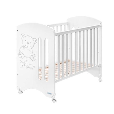 Micuna Sweet Bear Cot with High Density Anti Dust Mite Mattress