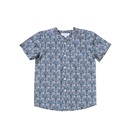 Sea Apple Morris Butterfly Liberty Mandarin Shirt