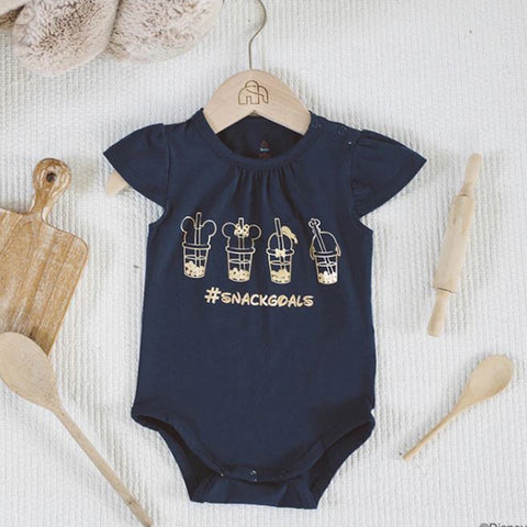Elly Paige Onesie - Navy Gold Bubble Tea Mickey