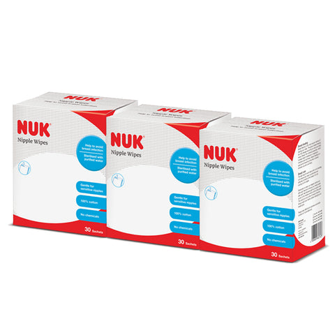 NUK Nipple Wipes Buy 2 Free 1