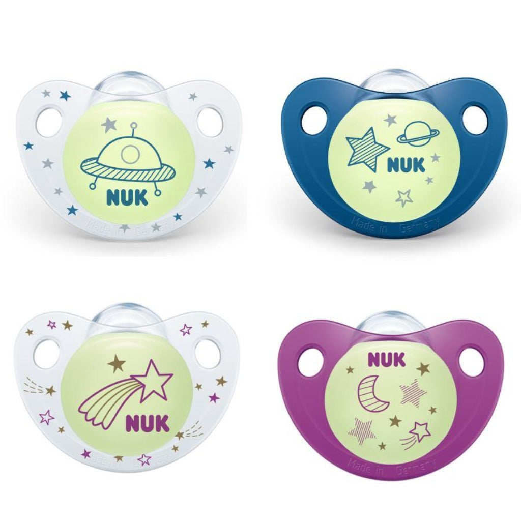NUK Day/Night Silicone Soother Size 1 (0-6M)
