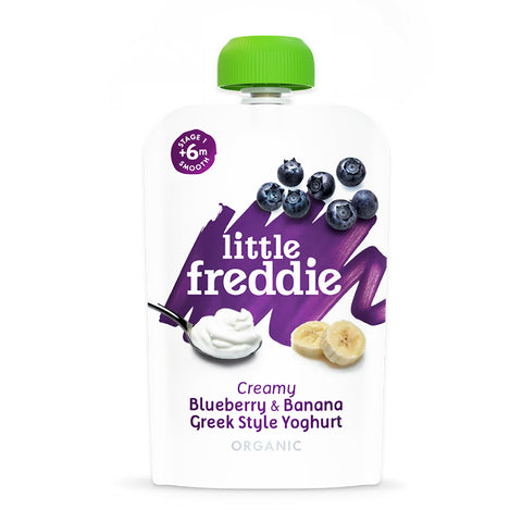 Little Freddie Creamy Blueberry & Banana Greek Style Yoghurt