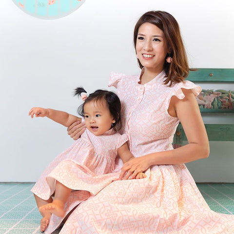 Le Petit Society Chinese Knots Series - Baby Girl Dress In Pink
