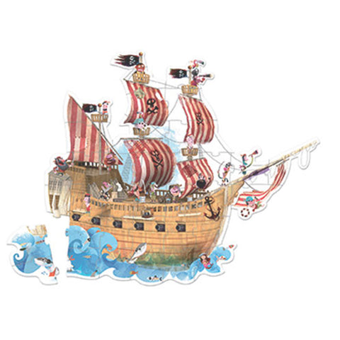 Janod Hat Boxed 39 Pcs Giant Floor Puzzle Pirate Ship