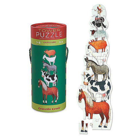 Crocodile Creek Tower Puzzle - Barnyard 36 pieces