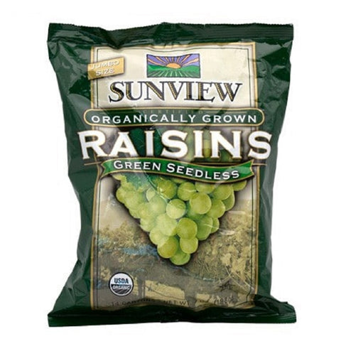 Sunview Organic Green Raisins packet