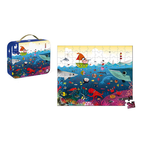 Janod Square Case Puzzle Underwater World - 100 Pieces