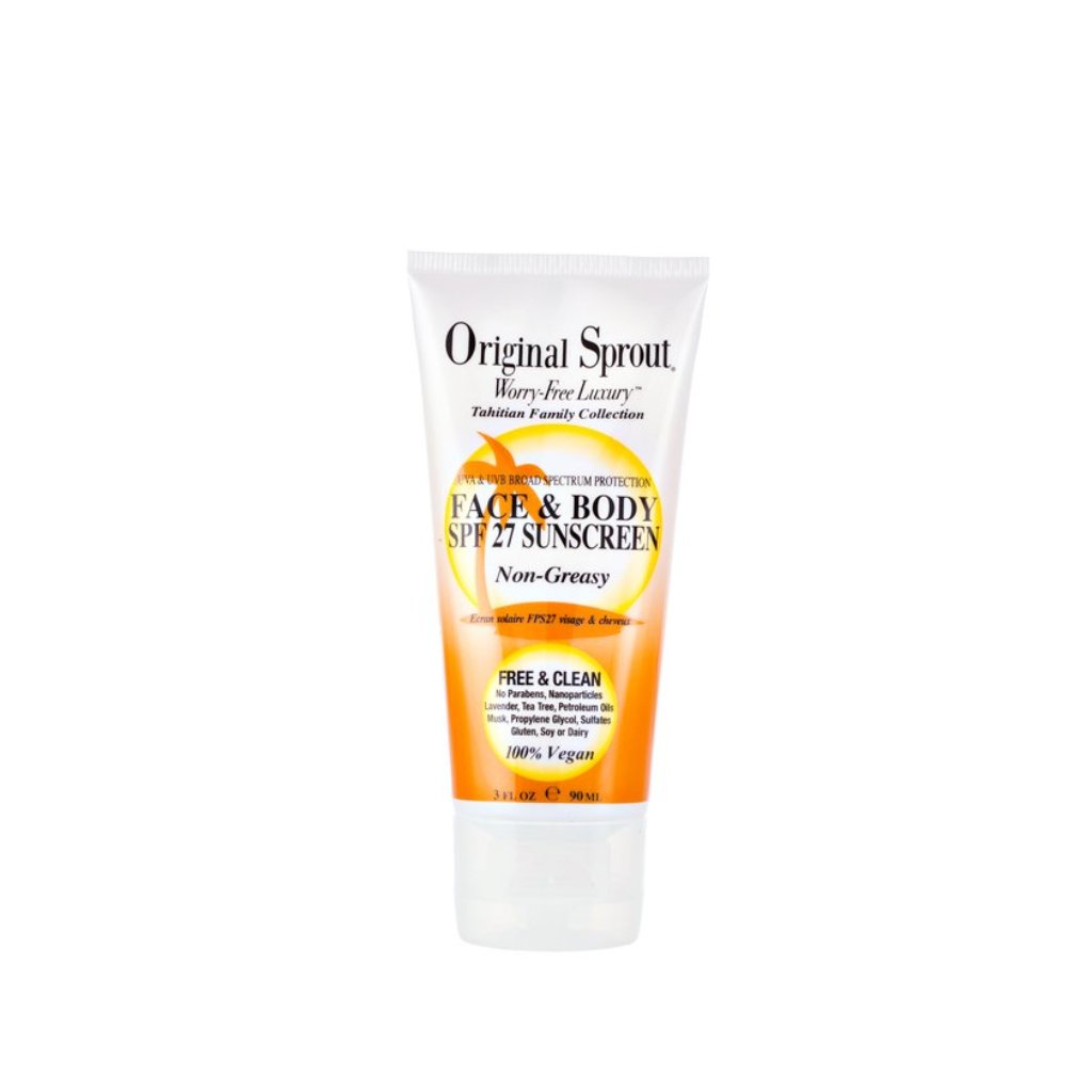 Original Sprout Tahitian Face and Body SPF27 Sunscreen - 3 oz