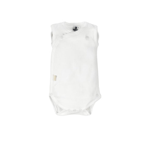 Cambrass Body Sleeveless Crossed White