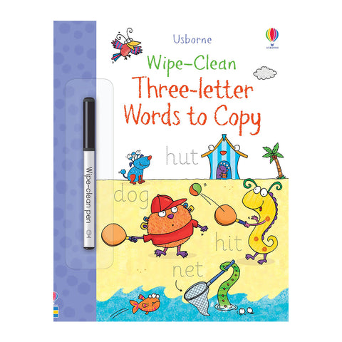 Usborne - Wipe-Clean Three-Letter Words to Copy Book
