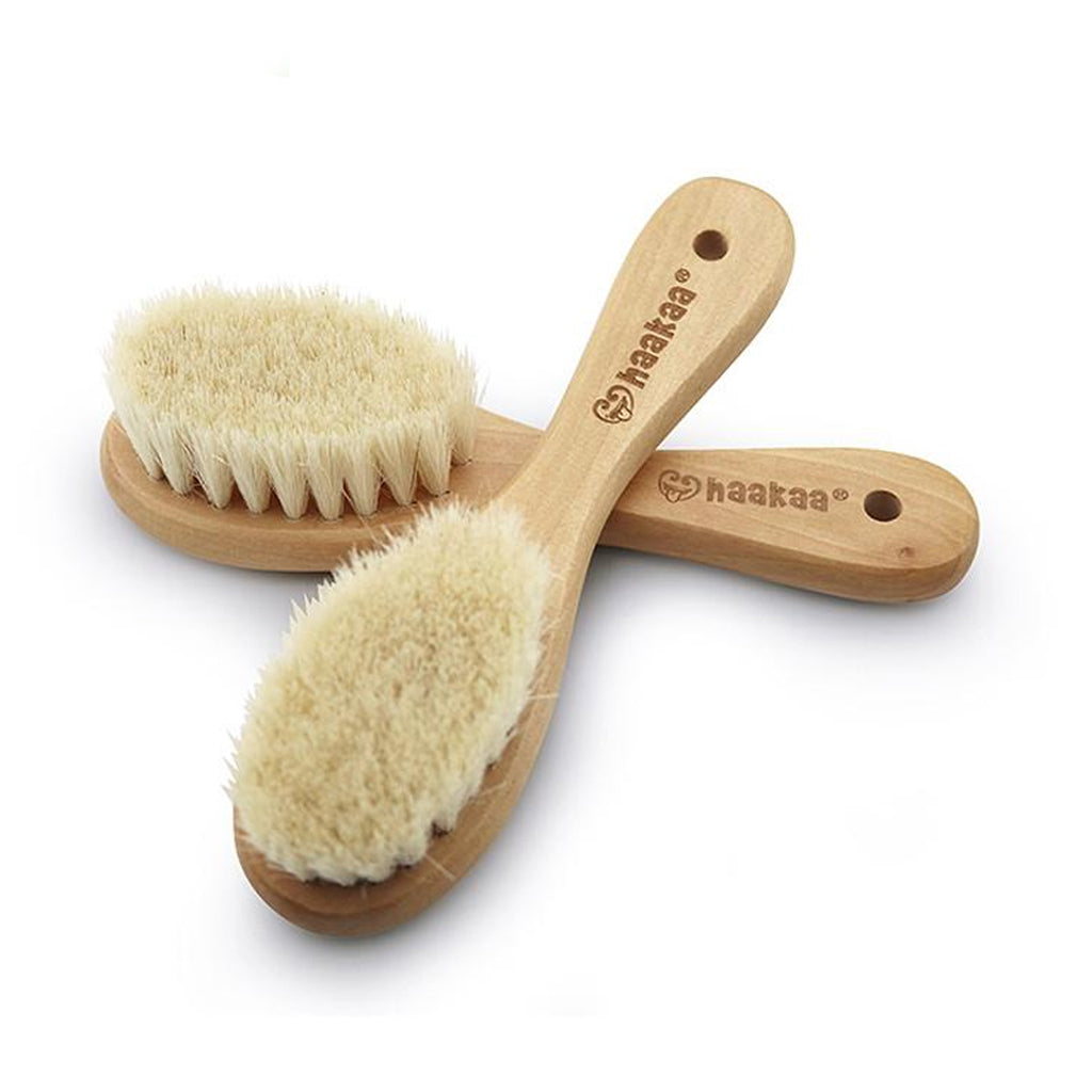 Haakaa Goat Wool Wooden Hairbrush