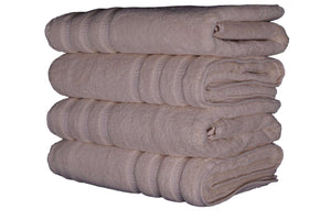 Premium Quality 100% Cotton Bath Towel - Set of 4