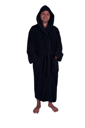 Puffy Cotton Unisex Heavy Adult Hoodie Bathrobe 100% Natural Soft Cotton Bathrobes Puffy Cotton
