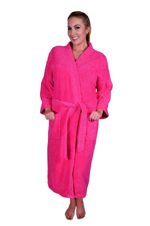 Puffy Cotton Adult Unisex Kimono Bathrobe 100% Natural Soft Cotton Bathrobes Puffy Cotton Hot Pink