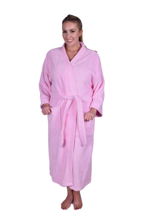 Puffy Cotton Adult Unisex Kimono Bathrobe 100% Natural Soft Cotton Bathrobes Puffy Cotton Light Pink