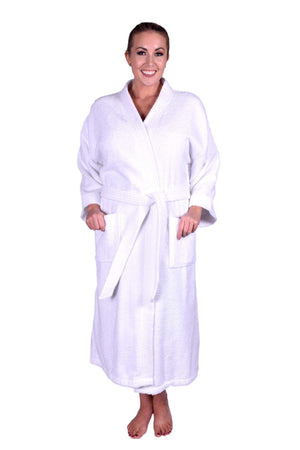 Puffy Cotton Adult Unisex Kimono Bathrobe 100% Natural Soft Cotton Bathrobes Puffy Cotton White