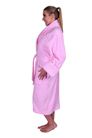 Puffy Cotton Heavy Adult Unisex Shawl Collar Bathrobe 100% Natural Soft Cotton Bathrobes Puffy Cotton