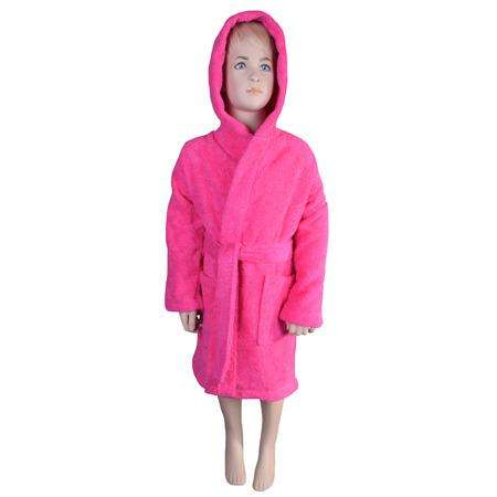 Puffy Cotton Kids  Unisex Hoodie Bathrobe 100% Natural Soft Cotton ( Ages : 3 to 7 )
