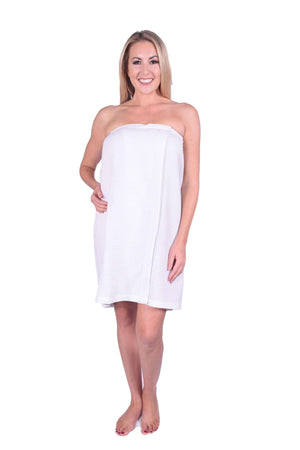 Puffy Cotton Terry Waffle Cotton Spa Body Wrap ( Women )
