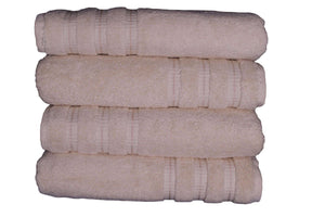 Premium Quality 100% Cotton Bath Towel - Set of 4 - Cream
