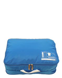 This is a cobalt Flight 001 cobalt travel Space Pak clothes packing cube.