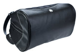 Medium Sumo Duffel (Black with White Stitching)