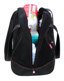 Medium Sumo Duffel (Black with Pink Stitching)