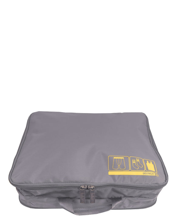 This is a grey Flight 001 travel spacepak underwear packing cube.