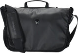 "A high-density nylon constructed black 13""-17"" Alienware Vindicator Laptop Messenger Bag w/ alien logo & padded shoulder strap"