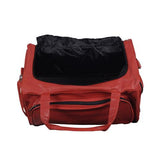 An open basketball Duffle bag made w/ real basketball material.