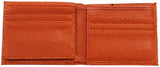 An open square men's basketball wallet made w/ real Basketball material.