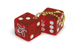 "Two Red dice attachment for 14.1"" Maddie Powers Pulp Fiction Laptop Bag."