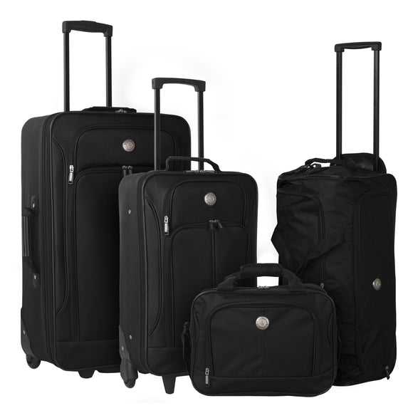 Genova II Expandable Luggage and Accessories Set - 4-Pc (Available in 2 colors)
