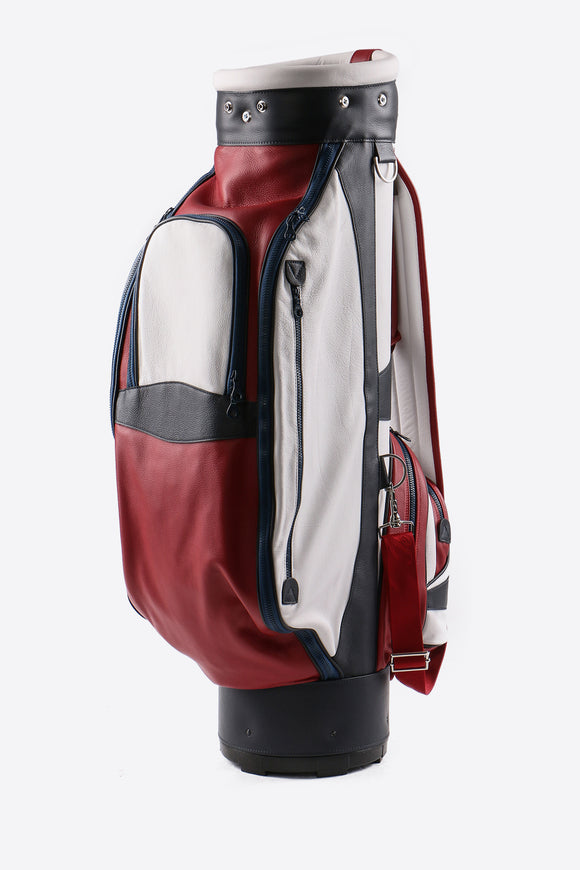 Tri-Color Leather Golf Bag (Available in 7 Colors + Custom)